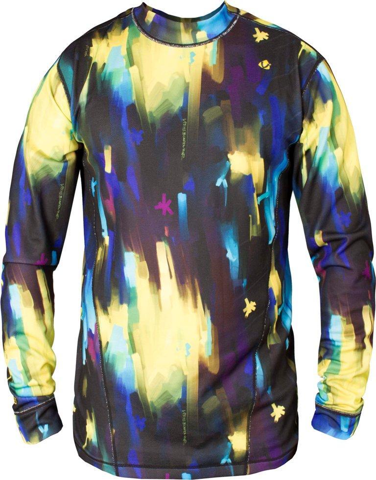 Термобелье футболка Paper мужскаяФутболки<br><br> Свободный крой термобелья Virus позволяет надевать его как первым слоем, так и вторым. Но особое отличие заключается в материале DryFleece, который обладает влаговыводящими свойствами благодаря пропитке wicking.<br><br><br>Цвет: Темно-синий<br>Размер: 48
