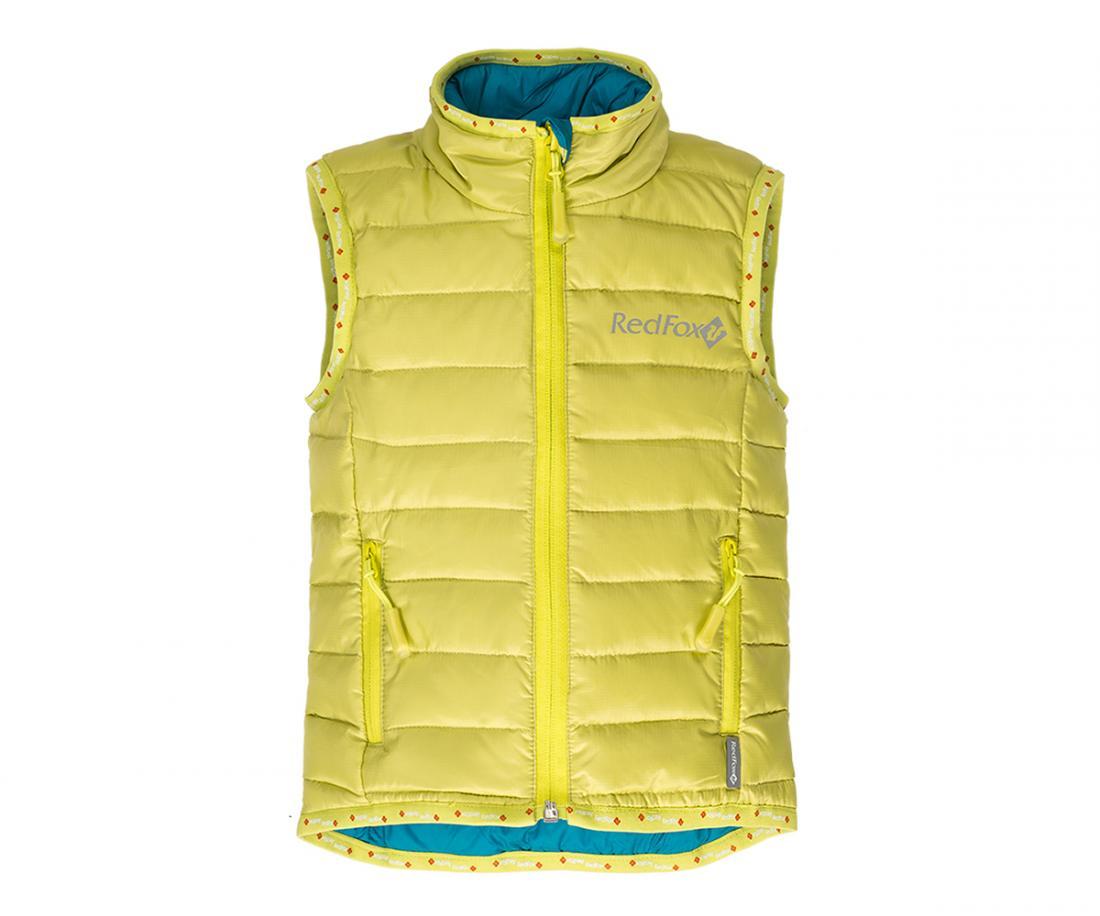 Жилет пуховый Air BabyЖилеты<br>Сверхлегкий пуховый жилет. Прекрасно подходит в качестве утепляющего слоя под куртку или как самостоятельный элемент гардероба, например:...<br><br>Цвет: Салатовый<br>Размер: 110