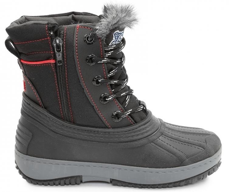 Ботинки подростковые ALIБотинки<br>Функциональные и очень теплые непромокаемые ботинки. Сохранят ноги  ребенка в сухости и комфорте даже в самый сильный мороз.<br><br>Верх: нейлон / резина<br>Подкладка: шерстяная смеска<br>Стелька: вшитая, формованная, анти-микробн...<br><br>Цвет: Черный<br>Размер: 34