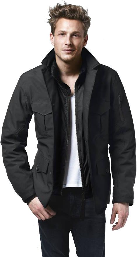 Куртка утепленная муж.PioneerКуртки<br><br><br>Цвет: Черный<br>Размер: XXL