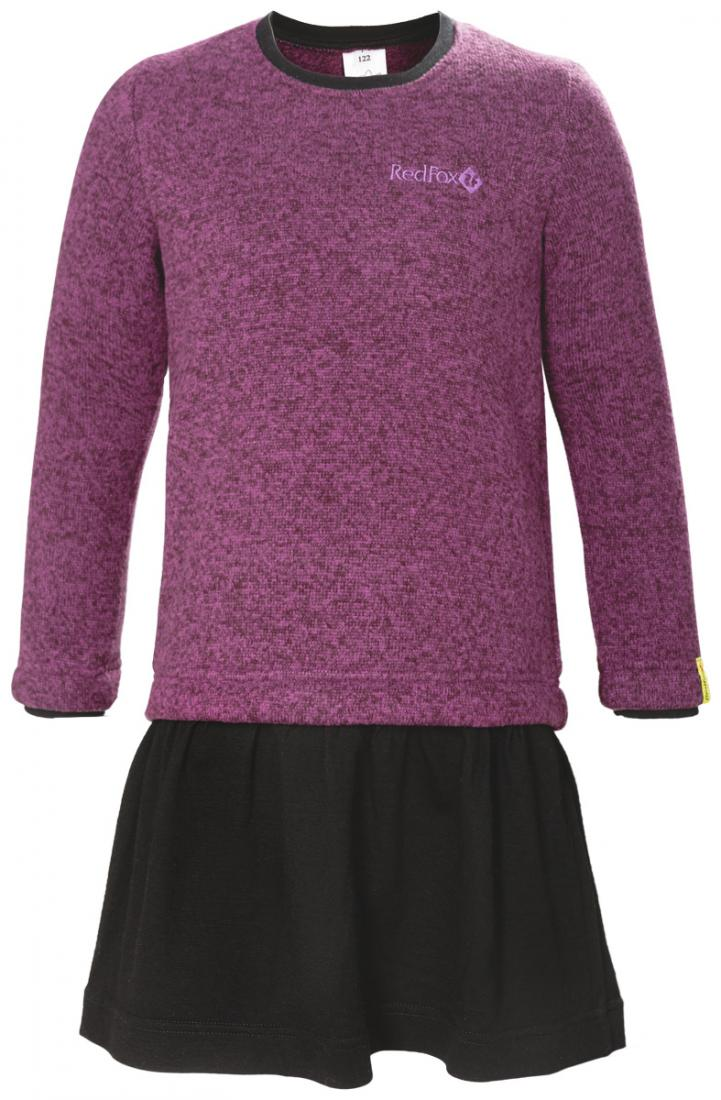 Платье Stella II ДетскоеПлатья, юбки<br>Теплое флисовое платье обладает приятной фактурой с эффектом sweater look и выполнено с уютной юбочкой из мериносовой шерсти для исключительного комфортна во время зимних приключений. Прекрасно согревает на прогулке в холодную погоду в качестве утепляю...<br><br>Цвет: Синий<br>Размер: 110