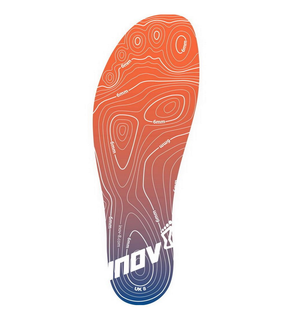 Inov-8 Стельки Natural - 6mm footbed (6, Orange/Blue, ,) inov 8 футболка base elite lsz w xl barberry