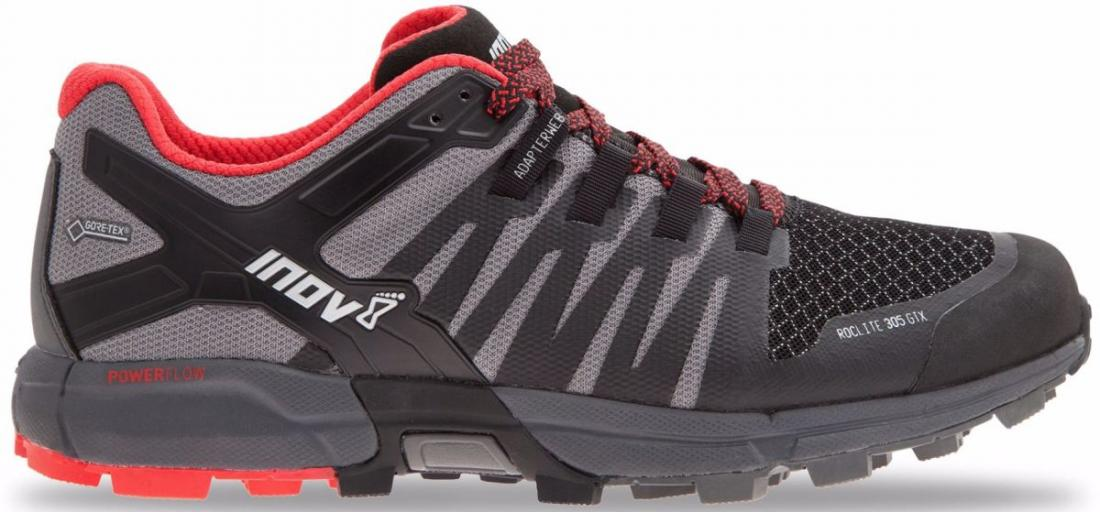 Inov-8 Кроссовки Roclite 305 GTX муж. (14, BLACK/GREY/RED, , ,) inov 8 футболка at c tri blend ss strip w 6 black pink