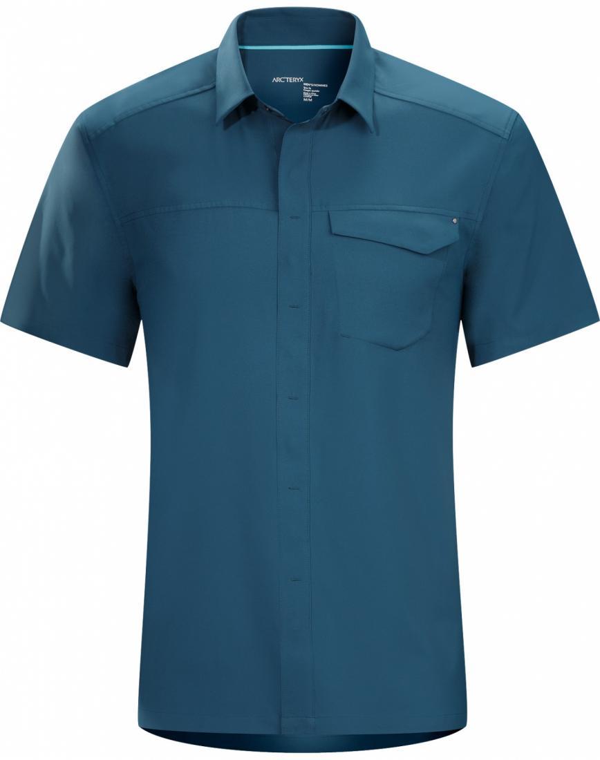 Рубашка Skyline SS муж.Рубашки<br><br> ДИЗАЙН: Рубашка с короткими рукавами из удобной тянущейся ткани.<br><br><br> НАЗНАЧЕНИЕ: Путешествия, каждодневная носка.<br><br><br> ПОКРОЙ: За...<br><br>Цвет: Синий<br>Размер: L