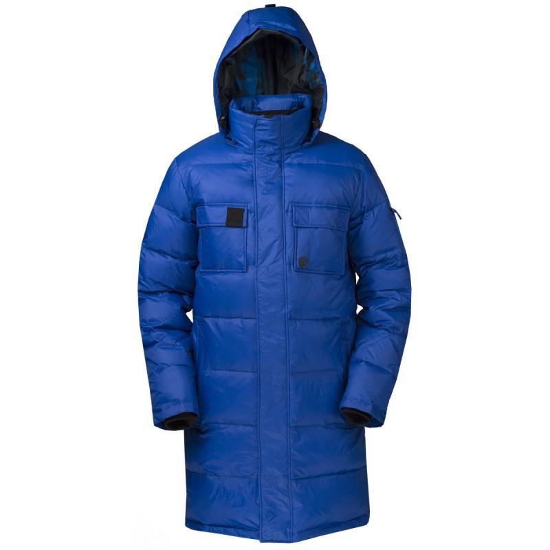 Куртка пуховая EnvelopeКуртки<br><br> Самый длинный мужской пуховик в коллекции ViRUS. Классическая прострочка, два накладных кармана на груди и масса комфорта. Все это о пухов...<br><br>Цвет: Синий<br>Размер: 56
