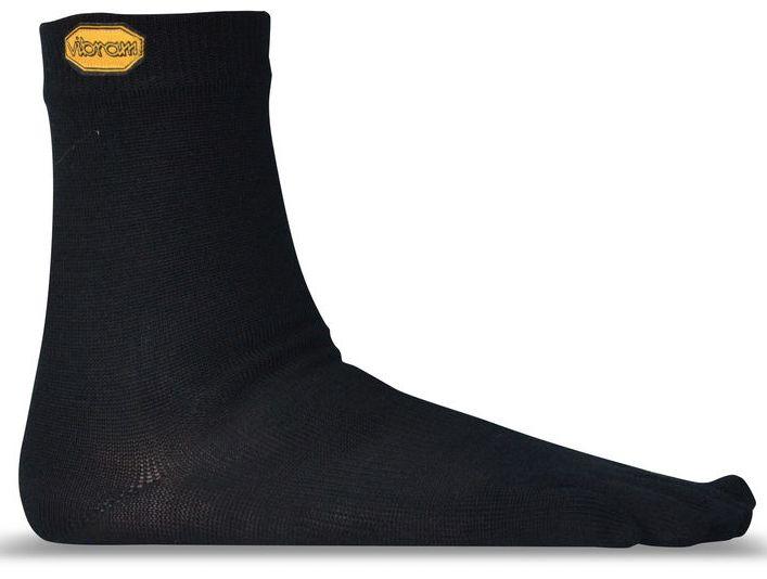 Носки CREWНоски<br>Специальные носки для ношения с обувью Vibram Five Fingers. Обеспечивают хорошую компрессию. Легко надевать, удобная средняя длинна.<br><br>состав: 70% мериносовая шерсть, 25% нейлон, 5% лайкра<br>уход: машинная стирка 40С, не отбеливать...<br><br>Цвет: Черный<br>Размер: M