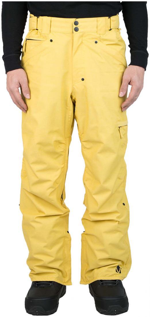 Штаны сноубордические MobsterБрюки, штаны<br><br> Сноубордические штаны свободного кроя Mobster сконструированы специально для катания вне трасс. Этому также способствуют карманы, препят...<br><br>Цвет: Желтый<br>Размер: 56