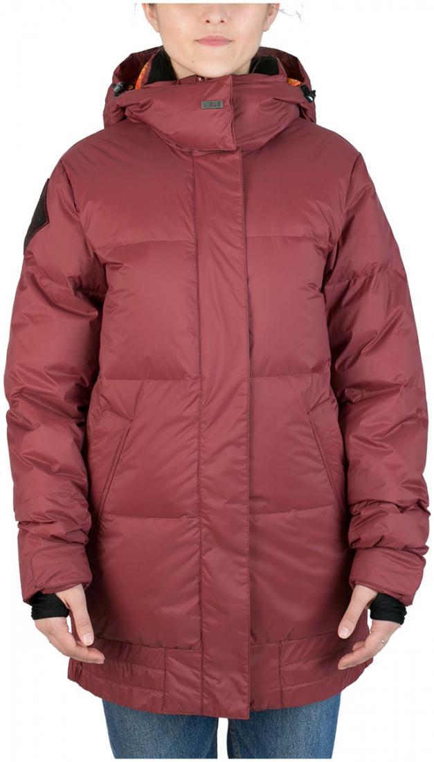 Куртка пуховая IC женскаяКуртки<br>Пуховик женственной формы «тюльпан» для девушек, которые не хотят потеряться на склоне. Обладая всем функционалом катальной куртки и уте...<br><br>Цвет: Бордовый<br>Размер: 48