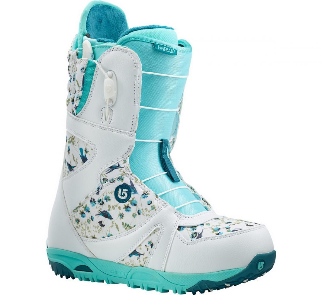 Ботинки сноуб. EMERALD жен.Ботинки<br><br> Emerald – жесткий сноубордический ботинок от Burton, созданный с учетом женской анатомии. Благодаря улучшенной амортизационной системе, в ос...<br><br>Цвет: Голубой<br>Размер: 6