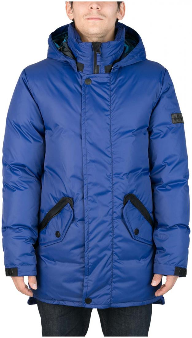 Куртка пуховая SandwichКуртки<br><br>Удлиненный мужской пуховик Sandwich создан специально для суровых российских зим. Утеплитель на основе из гусиного пуха, нетривиальные дет...<br><br>Цвет: Синий<br>Размер: 44