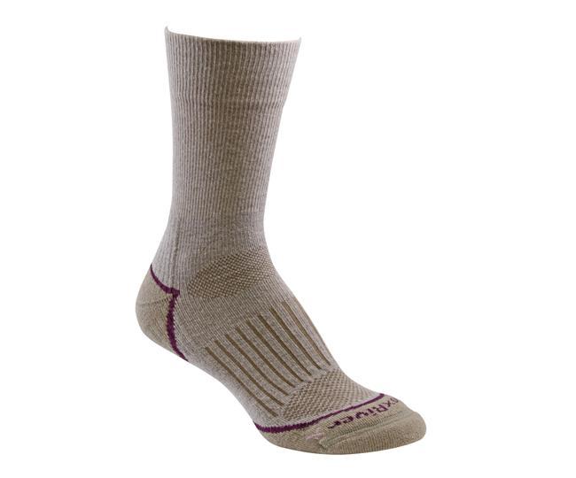 Носки турист.2556 STRIVE CREW жен.Носки<br>Эти тонкие носки из мериносовой шерсти обеспечивают комфорт и амортизацию во время любых путешествий. Носки созданы специально для женской стопы - с маленьким носком и узкой пяткой.<br><br><br>Система URfit™<br>Специальные вентилируемые ...<br><br>Цвет: Серый<br>Размер: L