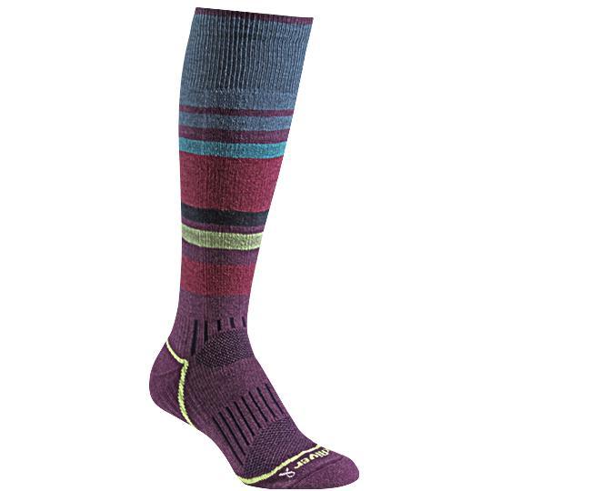 Носки лыжные жен.5513 SundownНоски<br><br> Эти очень тонкие носки создают ощущение «босой ноги» и обладают идеальной посадкой с учетом анатомических особенностей женской ноги. Благодаря уникальной системе переплетения волокон Wick Dry® и использованию Eco волокон, влага быстро испаряется с ...<br><br>Цвет: Фиолетовый<br>Размер: S