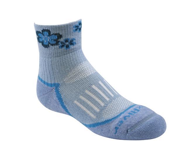 Носки детские 2953 Trail Jr.QTRНоски<br><br> Тонкие детские носки с идеальной посадкой. Благодаря уникальной системе переплетения волокон Wick Dry®, влага быстро испаряется с поверхн...<br><br>Цвет: Голубой<br>Размер: S