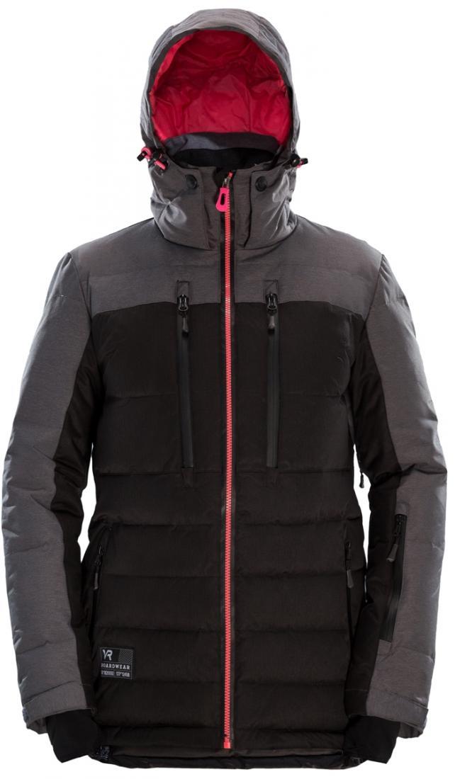 Куртка пуховая KURASAO WПуховики<br>Модель пуховой куртки Kurasao W - тот случай когда девушка может выглядеть изящно на склоне. Куртка хорошо сидит и привлекает внимание цветовыми комбинациями, сильно расширяя палитру<br>возможных сочетаний со штанами и аксессуарами.<br><br>класси...<br><br>Цвет: Черный<br>Размер: XS