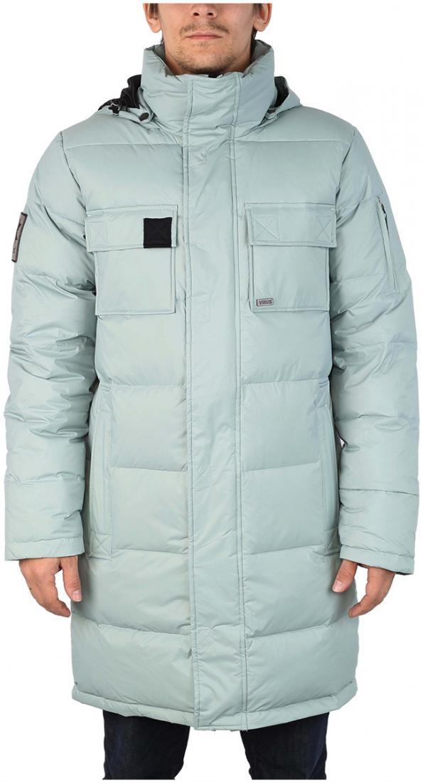 Куртка пуховая EnvelopeКуртки<br><br> Самый длинный мужской пуховик в коллекции ViRUS. Классическая прострочка, два накладных кармана на груди и масса комфорта. Все это о пухов...<br><br>Цвет: Голубой<br>Размер: 54