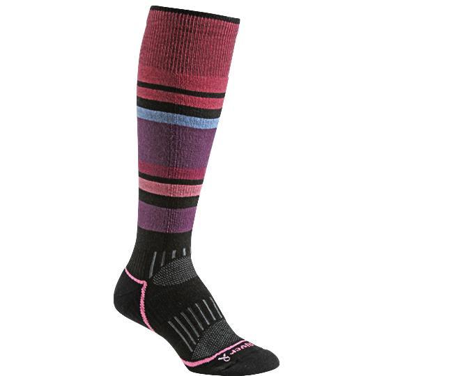 Носки лыжные жен.5513 SundownНоски<br><br> Эти очень тонкие носки создают ощущение «босой ноги» и обладают идеальной посадкой с учетом анатомических особенностей женской ноги. Благодаря уникальной системе переплетения волокон Wick Dry® и использованию Eco волокон, влага быстро испаряется с ...<br><br>Цвет: Черный<br>Размер: M