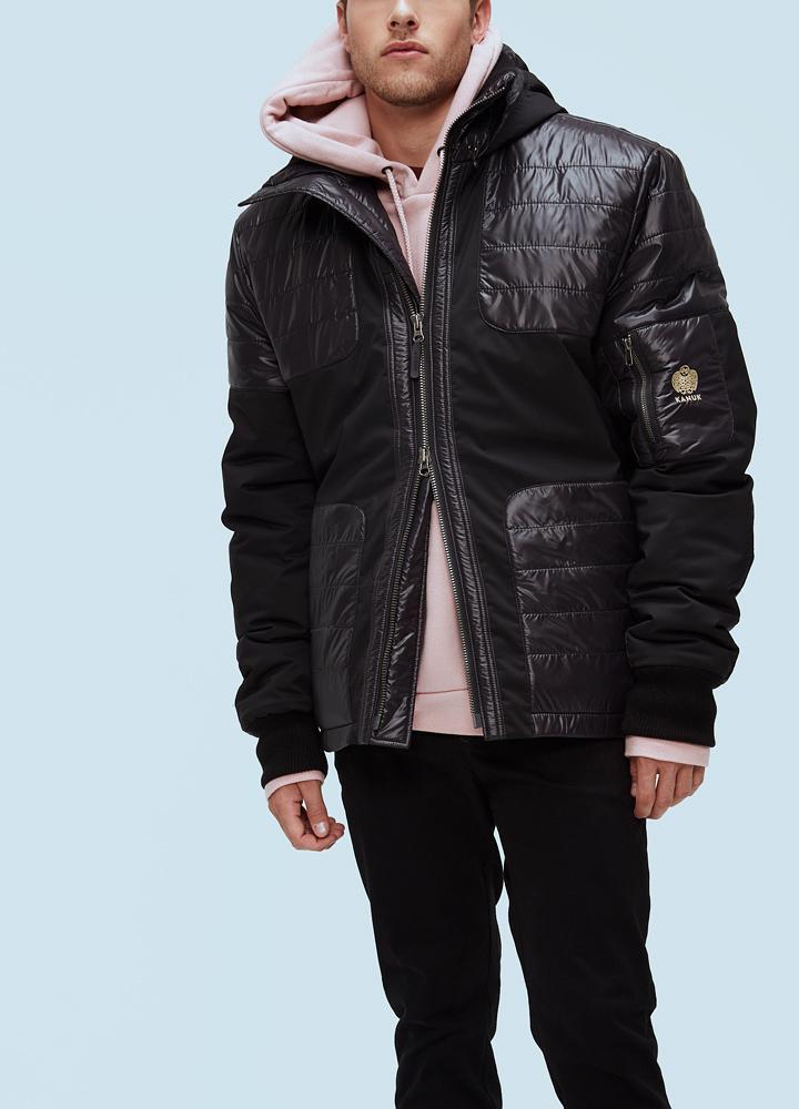Куртка мужская Carbone H ThinDown M No furКуртки<br><br> Мужская куртка Kanuk Carbone была произведена на фабрике Kanuk в Монреале. Куртка выполнена с применением современного утеплителя Thindown. Thindown - инновационный материал, разработанный и произведенный в Италии. При изготовлении Thindown использ...<br><br>Цвет: Черный<br>Размер: M