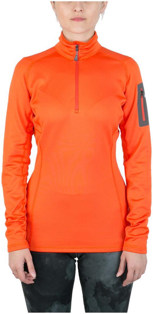 Пуловер Z-Dry ЖенскийПуловеры<br>Спортивный пуловер, выполненный из эластичного материала с высокими влагоотводящими характеристиками. Идеален в качестве зимнего термобелья или среднего утепляющего слоя.<br> <br> <br><br>Материал: 94% Polyester, 6% Spandex, 290g/sqm.<br> &lt;...<br><br>Цвет: Оранжевый<br>Размер: 42