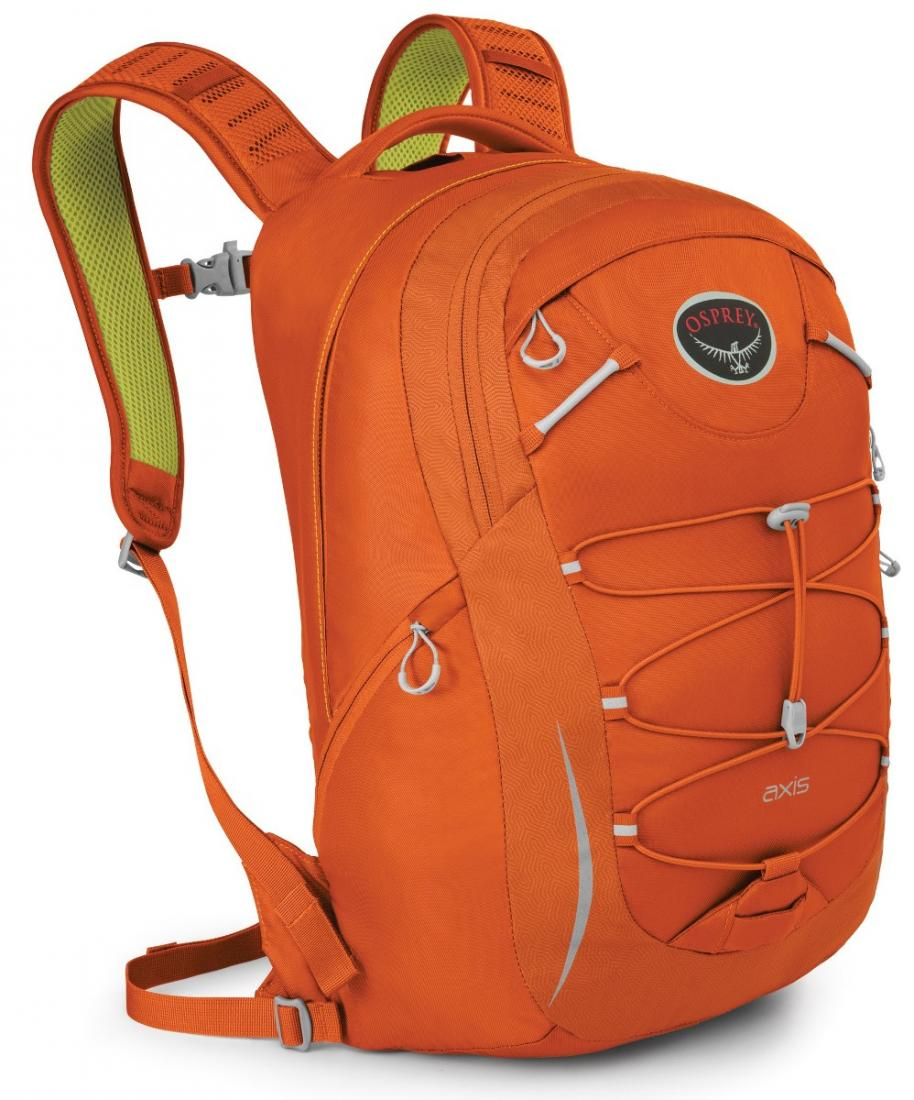Рюкзак Axis 18Рюкзаки<br>Особенности: <br> Вшитые лямки EVA с подкладкой из сеткой <br> Спина с подкладкой из сеткой <br> Боковые карманы на молнии <br> Стяжка на фасаде &lt;...<br><br>Цвет: Светло-оранжевый<br>Размер: 18 л