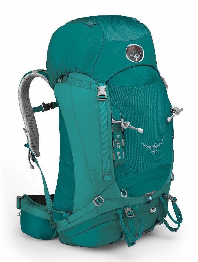 Рюкзак Kyte 66Рюкзаки<br>Универсальные всесезонные рюкзаки серии Kyte разработаны с учетом анатомических особенностей женской фигуры. Cпециальная накидка от дождя защитит рюкзак и вещи от промокания. Хорошо вентилируемая регулируемая спина AirSpeed™ позволяет сбалансировать це...<br><br>Цвет: Цвет морской волны<br>Размер: 66 л