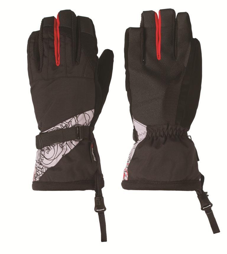 Перчатки Slide IIПерчатки<br><br> Утепленные перчатки для зимних видов спорта.<br><br> Основные характеристики<br><br>анатомическая форма<br>удлиненная крага<br>усиления в области ладони<br>регулировка объема в области запястья<br>эластичная...<br><br>Цвет: Черный<br>Размер: XL