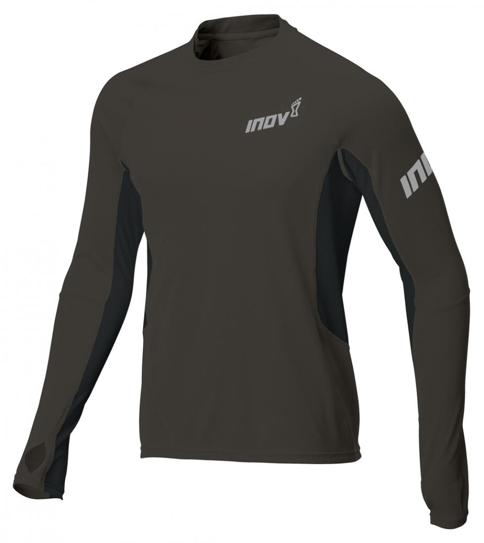Inov-8 Футболка Base Elite LS M (XS, Phantom/Black, ,) inov 8 футболка at c tri blend ss strip w 6 black pink