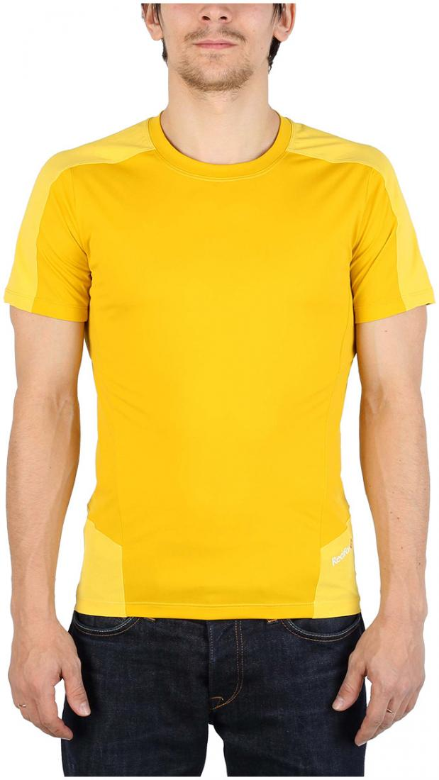 Футболка Amplitude SS МужскаяФутболки, поло<br><br> Легкая и функциональная футболка, выполненная изкомбинации мягкого полиэстерового трикотажа, обеспечивающего эффективный отвод влаги, и усиленийиз нейлоновой ткани с высокой абразивной устойчивостью в местах подверженных наибольшим механическим н...<br><br>Цвет: Желтый<br>Размер: 54