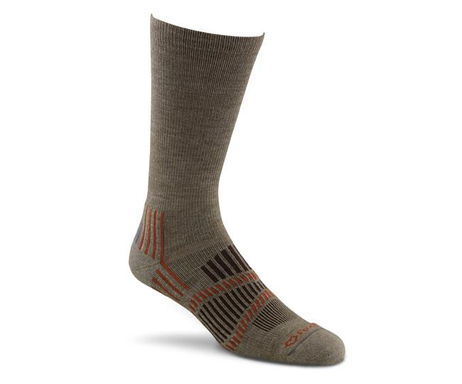 Носки турист. 2336 Stowe Lt CrewНоски<br><br> Эти носки foxsox из износостойкого PRIMALOFT® tподходят для любого путешествия. Носки Helix Fit™ fповторяют форму стопы, поддерживая ее во время движения, а подушечка на подошве и усиление в области пятки выдержит длительные нагрузки и испытания<br>&lt;...<br><br>Цвет: Коричневый<br>Размер: XL