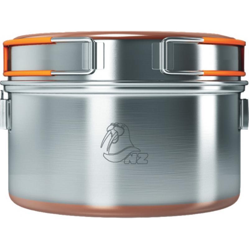 Кастрюля NZ SS (нерж)Кастрюли<br>Особенности:<br><br>Вес: 660 г.<br> <br>Объём: 2400 мл<br> <br>Покрытие: Медное напыление<br> <br>Размер (в упак. виде): 225х225...<br><br>Цвет: Серый<br>Размер: L