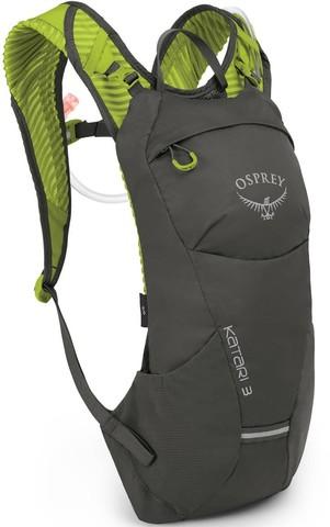 Рюкзак Katari 3Рюкзаки<br><br>Легкий и компактный велосипедный рюкзак Osprey Katari 3 оснащен встроенным 2,5-литровым резервуаром Osprey Hydraulics™ LT. Рюкзак имеет множество отделений для самых необходимых в дороге вещей. Продуманная конструкция задней панели AirScape™ обеспеч...