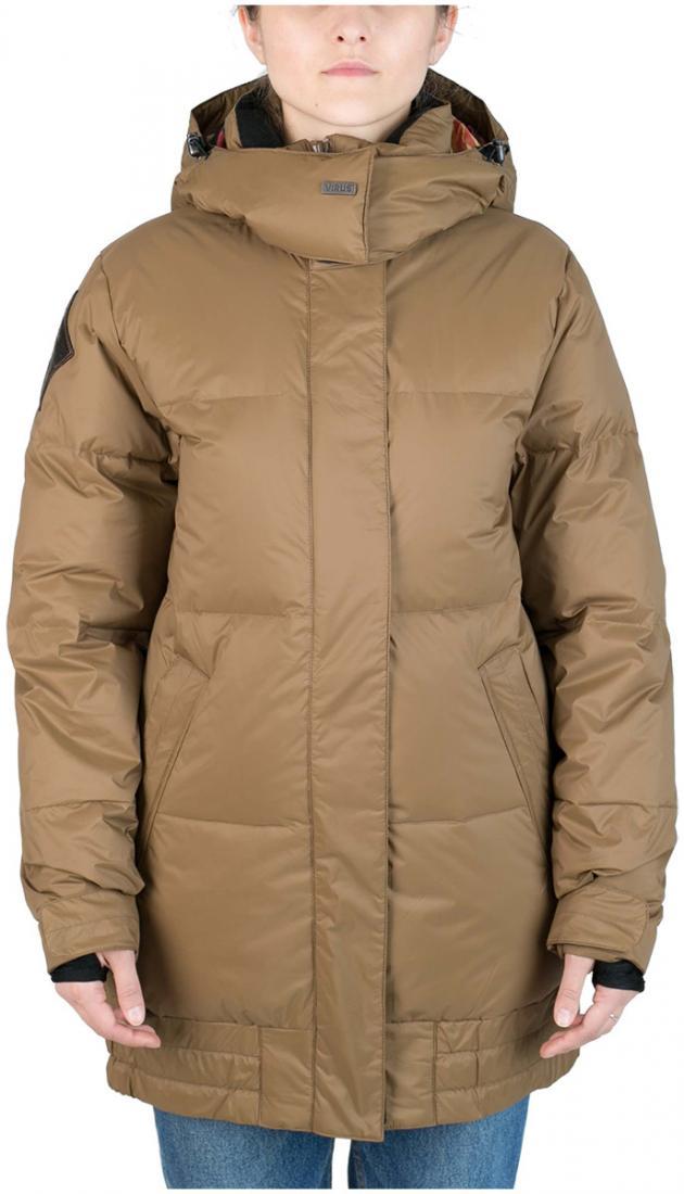 Куртка пуховая IC женскаяКуртки<br>Пуховик женственной формы «тюльпан» для девушек, которые не хотят потеряться на склоне. Обладая всем функционалом катальной куртки и уте...<br><br>Цвет: Коричневый<br>Размер: 42