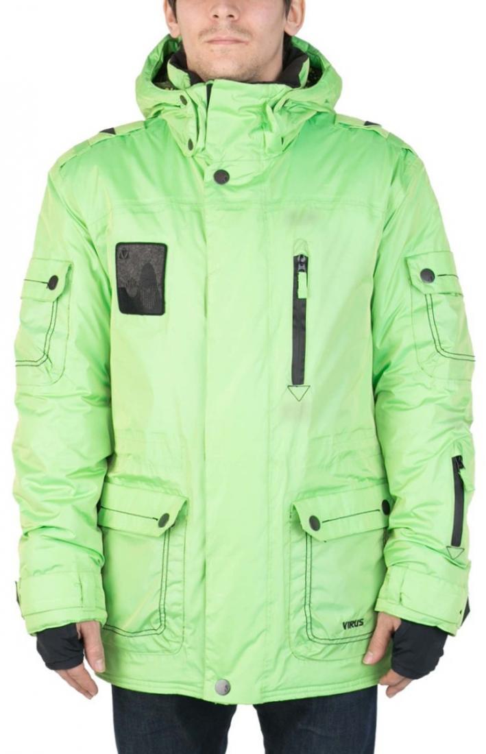 Куртка Virus  утепленная Hornet (osa)Куртки<br><br> Многофункциональная мужская куртка-парка для города и склона. Специальная система карманов «анти-снег». Удлиненный силуэт и шлица на л...<br><br>Цвет: Светло-зеленый<br>Размер: 46