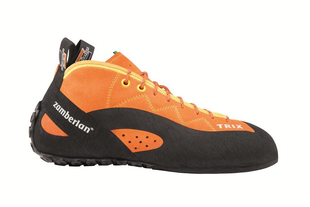 Скальные туфли A42 TRIXСкальные туфли<br><br> Скальные туфли Trix в своей конструкции ориентированы на использование на длинных трассах, чтобы обеспечить ногам комфорт даже после многих часов лазания. Trix имеет более плоский профиль и слабую асимметрию. Широкая и удобная подошва.<br><br>&lt;...<br><br>Цвет: Оранжевый<br>Размер: 42.5