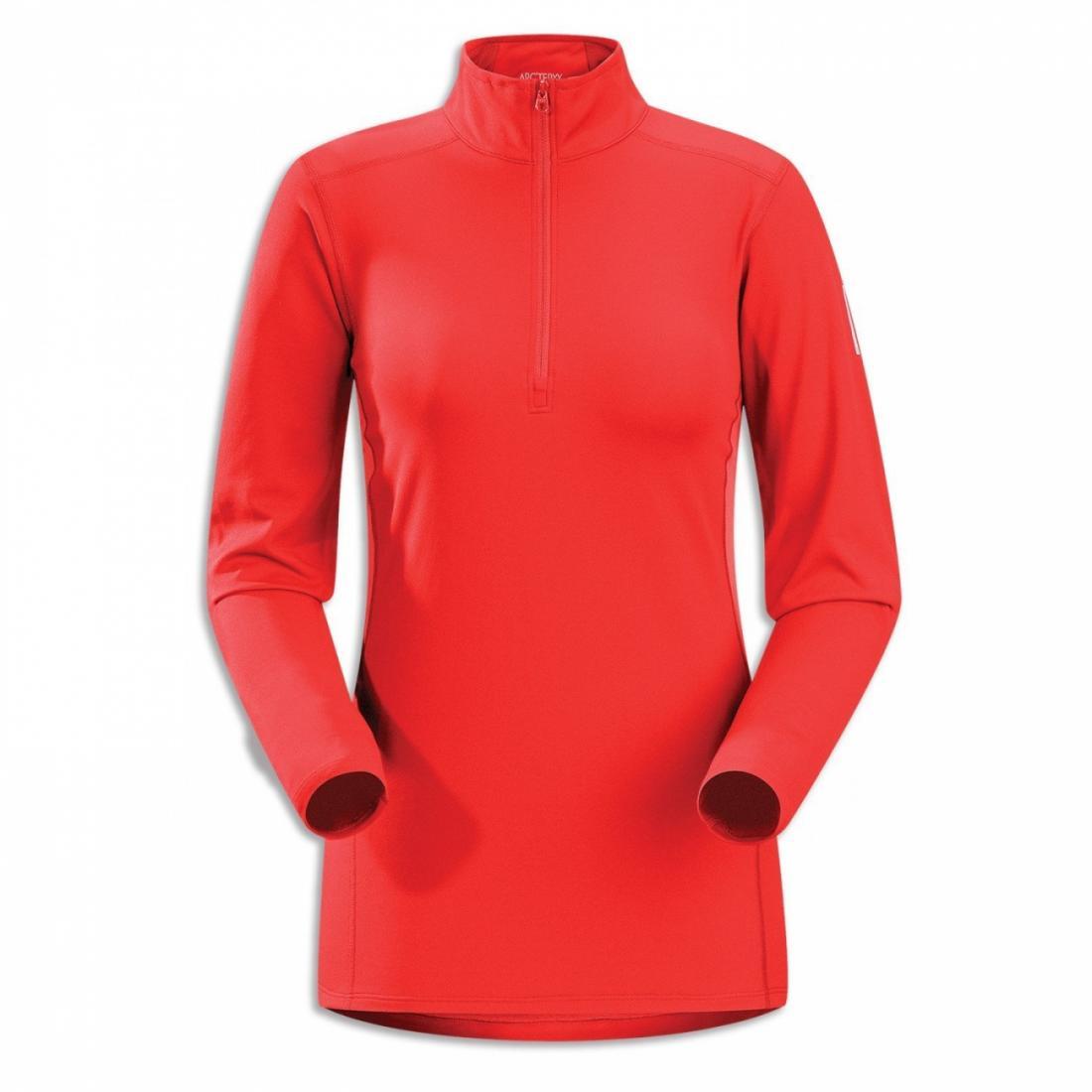 Термобелье футболка Phase AR Zip Neck жен. длин.рукавФутболки<br><br> Футболка-термобелье с длинными рукавами Arcteryx Phase AR для женщин используется в качестве дополнительного утепляющего слоя в морозную погоду. Оно отлично сохраняет тепло, отводит лишнюю влагу с поверхности кожи и дарит комфорт благодаря анатомич...<br><br>Цвет: Красный<br>Размер: L
