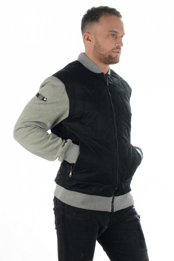 Куртка 17-42611 муж.Куртки<br>Стильная утепленная куртка с актуальным силуэтом и декоративными элементами отделки и стежки. Модель предназначена для создания яркого ...<br><br>Цвет: Черный<br>Размер: 48