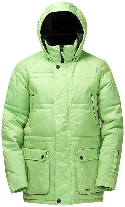 Куртка пуховая PlusКуртки<br><br> Пуховая куртка Plus разработана в лаборатории ViRUS для экстремально низких температур. Комфорт, малый вес и полная свобода движения – вот залог успеха этого пуховика. Лаконичная отделка куртки, вместительные карманы на кнопках не отвлекают от глав...<br><br>Цвет: Светло-зеленый<br>Размер: 46