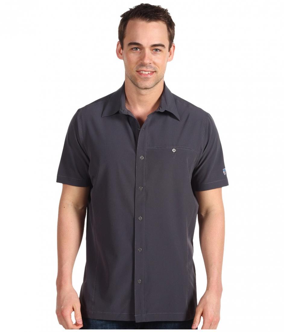 Рубашка StealthРубашки<br><br> Мужская рубашка Stealth от компании Kuhl с коротким рукавом отличается износостойкостью и легкостью. Она прекрасно подходит для повседневного использования, активного отдыха и путешествий. Материал, из которого она сшита, имеет антибактериальную за...<br><br>Цвет: Темно-серый<br>Размер: L