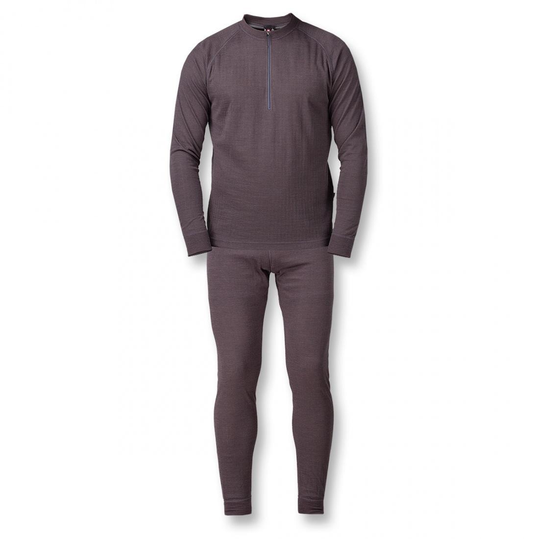Термобелье костюм Natural Dry ZipКомплекты<br>Теплое белье из смесовой ткани: шерстяные волокна греют, анити акрила и полипропилена добавляют белью эластичности исокращают время исп...<br><br>Цвет: Серый<br>Размер: 58