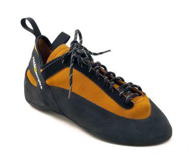 Скальные туфли ShogunСкальные туфли<br>Скальные туфли средней жесткости c простой системой шнуровки для начинающих и скалолазов с небольшим опытом. Обеспечивают комфорт на протяжении всего длительного дня лазания. Благодаря специальному язычку, туфли подходят под различные формы ступни и по...<br><br>Цвет: Желтый<br>Размер: 34