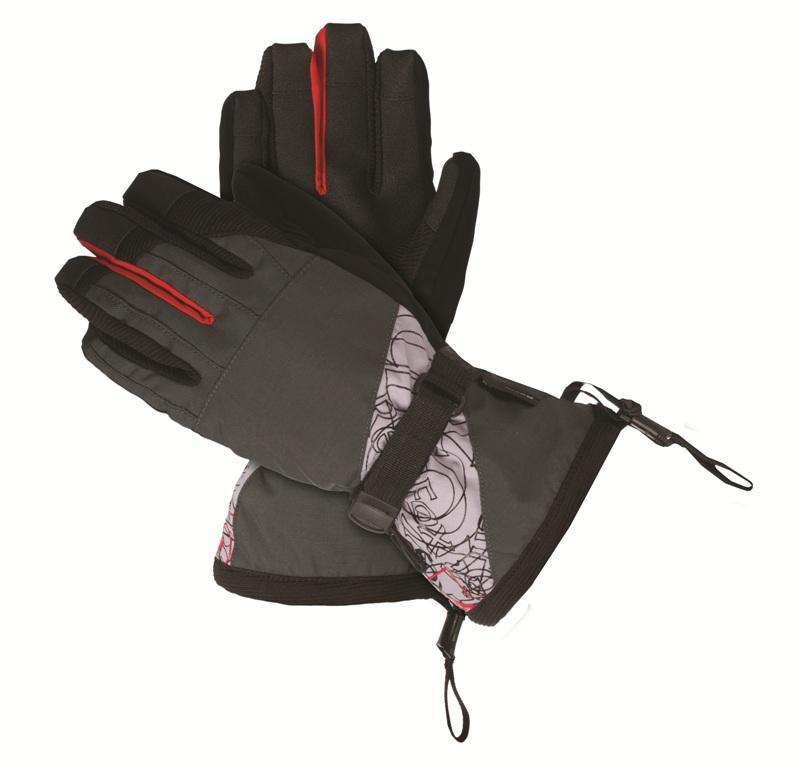 Перчатки Slide IIПерчатки<br><br> Утепленные перчатки для зимних видов спорта.<br><br> Основные характеристики<br><br>анатомическая форма<br>удлиненная крага<br>усиления в области ладони<br>регулировка объема в области запястья<br>эластичная...<br><br>Цвет: Серый<br>Размер: XL