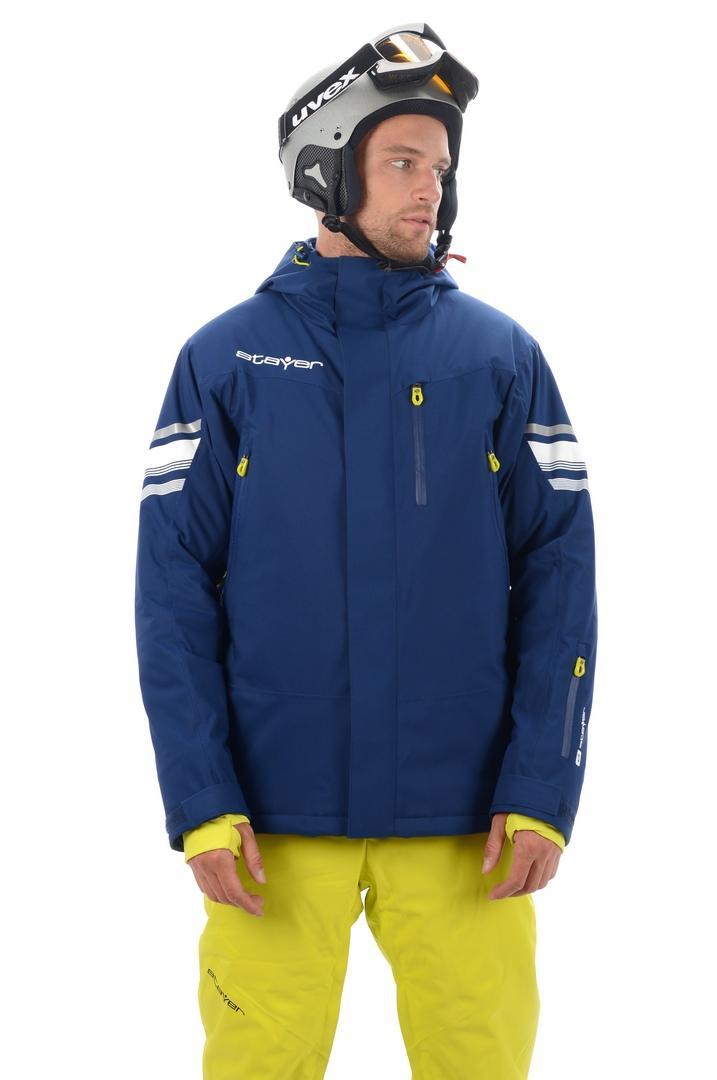 Куртка 17-42501 горн.муж.Куртки<br>Актуальная однотоновая горнолыжная куртка с высоким набором функциональных элементов из эксклюзивного мембранного материала с эффектом 4W Stretch - для полной свободы движения. Высокие показатели<br>водонепроницаемости / паропроницаемости. Конструкционная о...<br><br>Цвет: Синий<br>Размер: 54