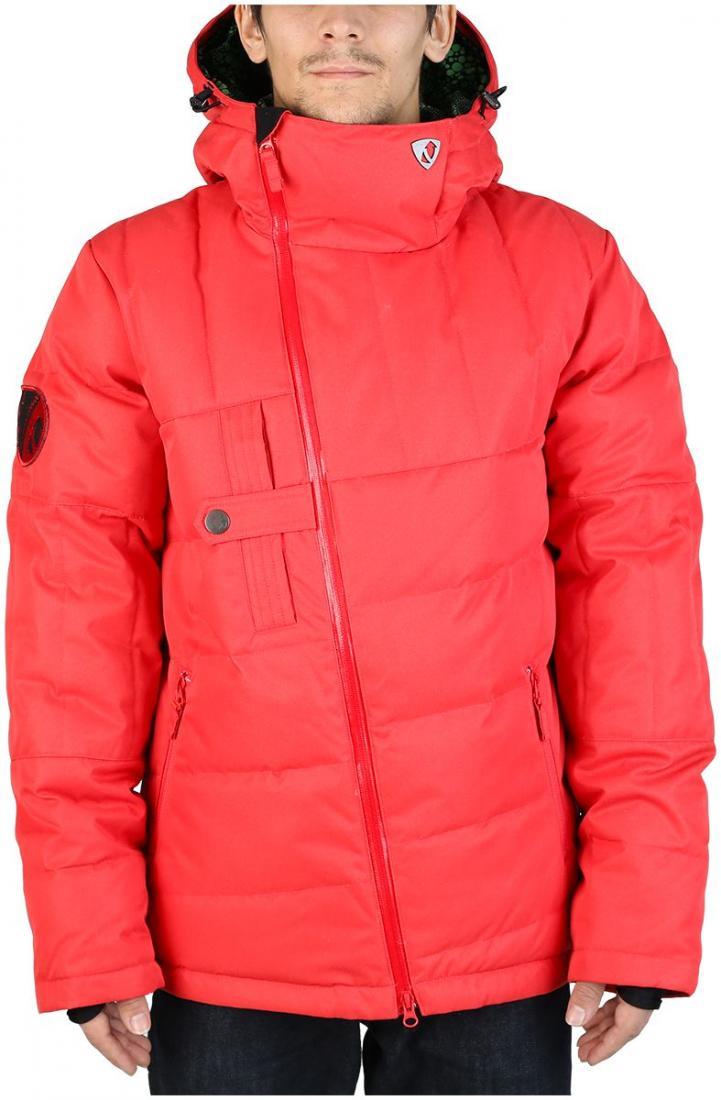 Куртка пуховая DischargeКуртки<br><br>Оригинальный мужской пуховик для тех, кто любит выделяться. Все детали в куртке Discharge сконструированы так, что внимание окружающих естественным образом направлено на неё. Косая молния, нагрудный карман с интересной застежкой, ассиметричная прост...<br><br>Цвет: Красный<br>Размер: 44