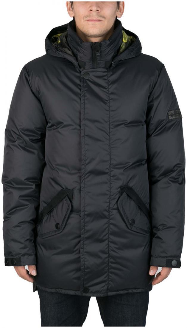 Куртка пуховая SandwichКуртки<br><br>Удлиненный мужской пуховик Sandwich создан специально для суровых российских зим. Утеплитель на основе из гусиного пуха, нетривиальные дет...<br><br>Цвет: Темно-серый<br>Размер: 56