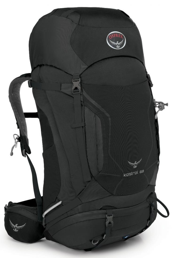 Рюкзак Kestrel 68Рюкзаки<br><br> Универсальные всесезонные рюкзаки серии Kestrel разработаны для самых разных видов Outdoor активности. Специальная накидка от дождя защитит рюкзак и вещи от промокания. Хорошо вентилируемая регулируемая спина AirSpeed™ позволяет сбалансировать цент...<br><br>Цвет: Черный<br>Размер: 70 л