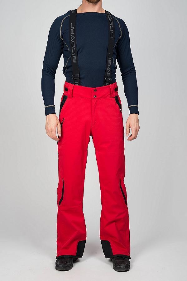 Брюки утепленные 222098Брюки, штаны<br>Горнолыжные брюки с анатомической конструкцией, повторяющей естественные изгибы тела. Мембранная ткань с эластичными волокнами обеспечивает полную свободу движений.<br> <br> Особенности:<br><br>Материал: Skistretch (20 000 мм/кв.см /15...<br><br>Цвет: Красный<br>Размер: 52
