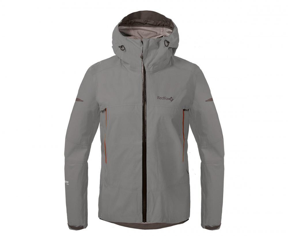 Куртка ветрозащитная SkyКуртки<br><br>Новейшая разработка в серии штормовых курток Red Fox, изготовлена из инновационного материала GORE-TEX® Active Products: самый низкий вес при высокой прочности и самые высокие показатели паропроницаемости при максимальной защите от дождя и ветра.<br>&lt;/...<br><br>Цвет: Темно-серый<br>Размер: 46