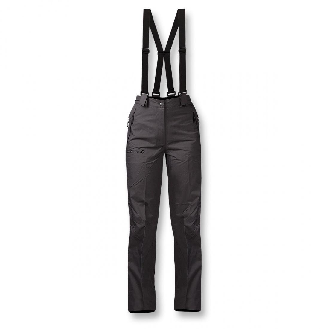 Брюки ветрозащитные Valencia ЖенскиеБрюки, штаны<br>Легкие штормовые брюки для женщин.  <br> <br> Серия Nordic Style <br>Треккинг, загородные выезды в дождливую погоду <br>Материал: Dry Factor 10000 2...<br><br>Цвет: Черный<br>Размер: 48