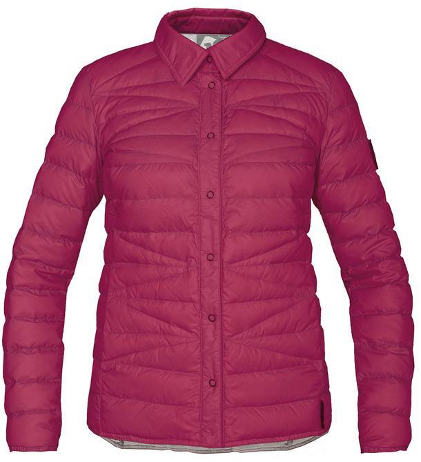Рубашка пуховая Yuki ЖенскаяРубашки<br><br> Городская пуховая рубашка лаконичного дизайна соригинальной стежкой.<br> Эргономичная и легкая модель, можно использовать вкачеств...<br><br>Цвет: Красный<br>Размер: 46