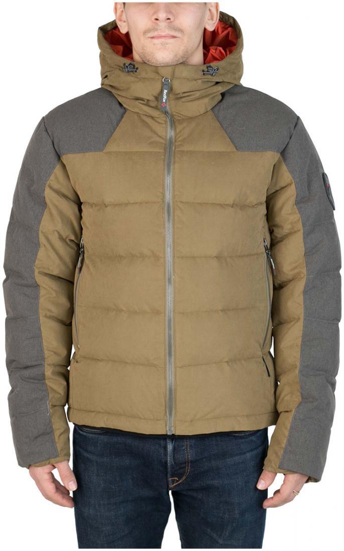 Куртка пуховая Nansen МужскаяКуртки<br><br> Пуховая куртка из прочного материала мягкой фактурыс «Peach» эффектом. стильный стеганый дизайн и функциональность деталей позволяют использовать модельв городских условиях и для отдыха за городом.<br><br><br>  Основные характеристики <br>&lt;...<br><br>Цвет: Темно-зеленый<br>Размер: 56