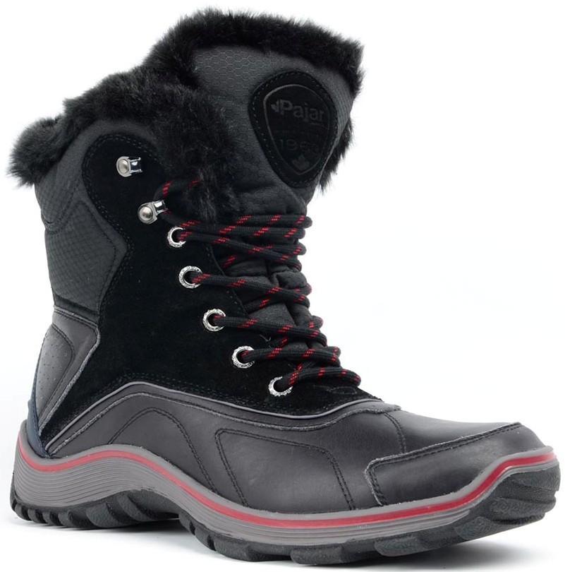Ботинки мужские ADRIANБотинки<br>Функциональные и очень теплые непромокаемые ботинки для мужчин. Сохранят ваши ноги в сухости и комфорте даже в самый сильный мороз.<br><br>Серия: водонепроницаемые<br>Верх: кожа / нейлон / замша<br>Подкладка: шерстяная смеска...<br><br>Цвет: Черный<br>Размер: 44